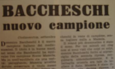 DOMENICO BACCHESCHI