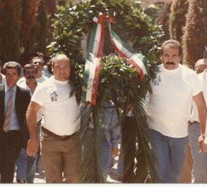 Tiberia e Adinolfi in Una manifestazione pubblica